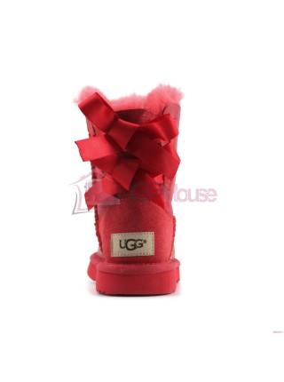 Угги Детские UGG Bailey Bow Toddler Metallic - Красные