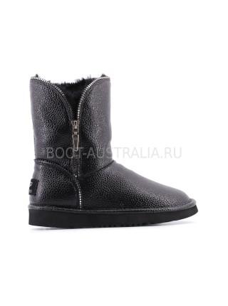 Угги UGG Короткие Кожаные Marice II - Black Черные