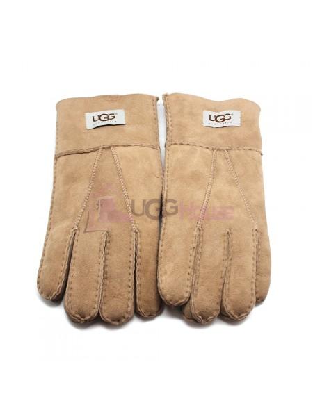 Мужские меховые перчатки Suede Sand - 1005