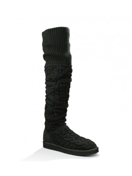 UGG Australia Argyle Knit Black Вязаные угги