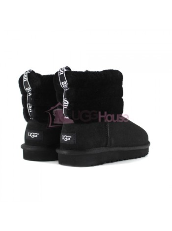 UGG Mini Fluff Quilted Boot - Black