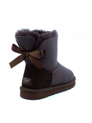 UGG Bailey Bow Mini Metallic Chocolate