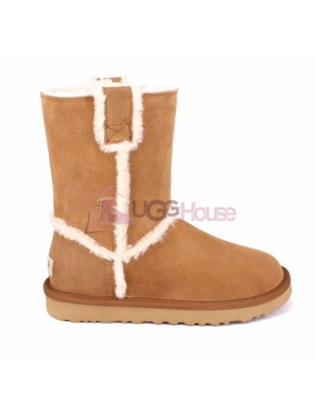UGG Short Spill Seam Boot Chestnut