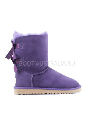 UGG Bailey Bow II Угги Фиолетовые с лентами сзади непромокаемые