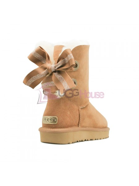 Угги UGG Bailey Bow Customizable - Seashell Chestnut