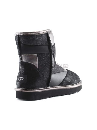 UGG Classic Glitter Patchwork Boot Mini Black