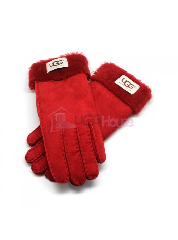 Женские перчатки UGG Red - 1042