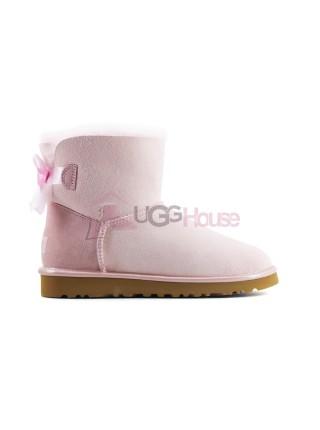 UGG Bailey Bow Mini II Metallic Seashell Pink