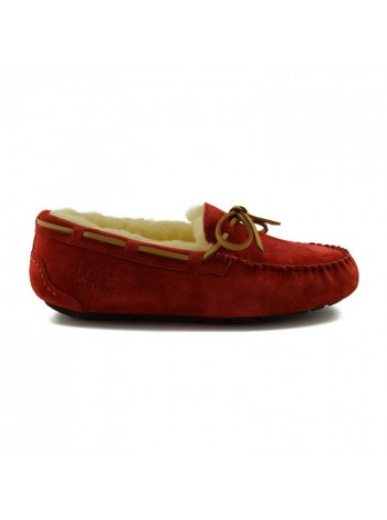 UGG Australia Moccasins Women Dakota Red Мокасины женские красные с мехом Дакота