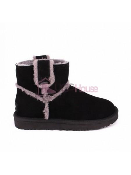 UGG Mini Spill Seam Boot Black