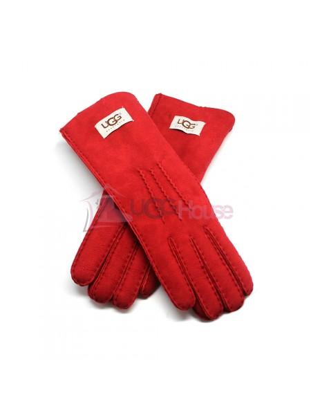 Женские удлиненные перчатки UGG Red - 1034