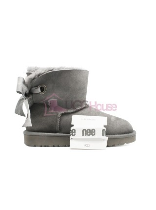 Угги Мини UGG Bailey Bow Customizable - Seashell Charcoal