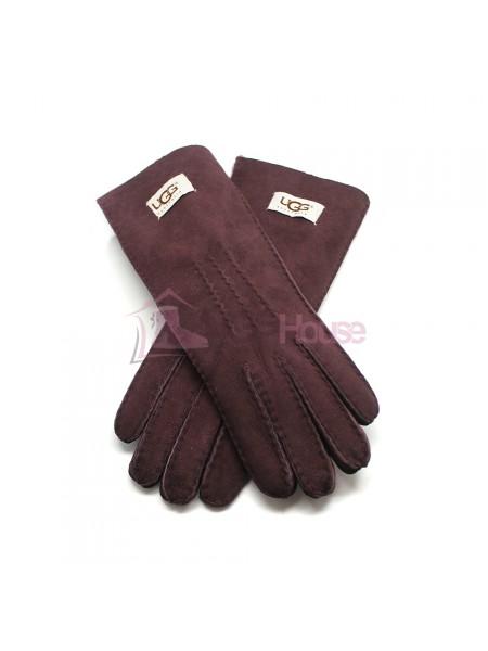 Женские удлиненные перчатки UGG Wine - 1031