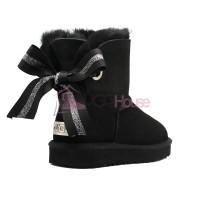 Угги Мини UGG Bailey Bow Customizable - Seashell Black