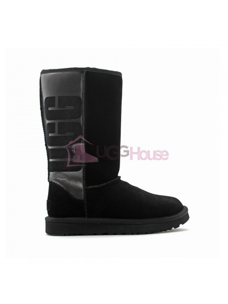 UGG Classic Tall Rubber Boot Black Черные