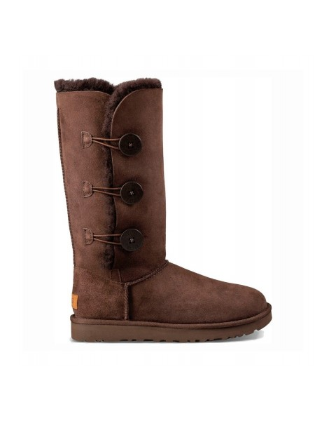 UGG Bailey Button Triplet Chocolate II Непромокаемые