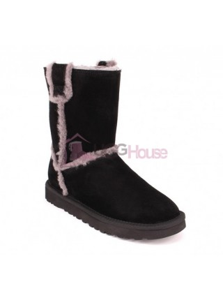 UGG Short Spill Seam Boot Black