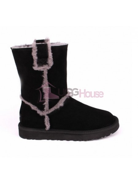 UGG Short Spill Seam Boot Black