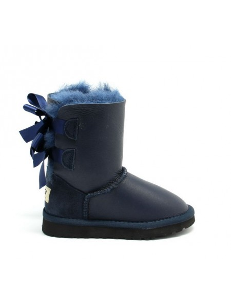 UGG Bailey Bow Kids Metallic Navy