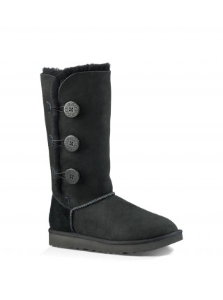 UGG Bailey Button Triplet Black II Непромокаемые