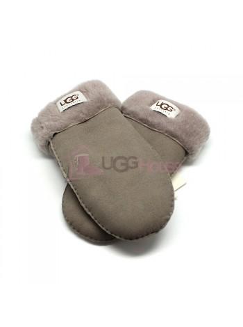 Женские варежки UGG Suede Light Grey - 1022