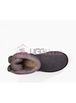 UGG Australia Naveah Mini Nightfall Темно-фиолетовые угги с бантиком